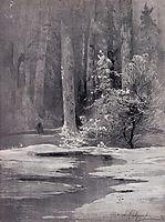 Early spring.Backwoods, 1884, savrasov