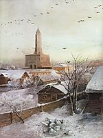 Early Spring. Flood, 1868, savrasov