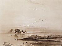 Early spring.Flood, 1893, savrasov