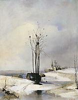 Early Spring. Thaw, 1885, savrasov