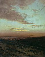 Evening Migration of birds, 1874, savrasov