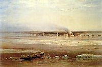 Flooding of the Volga river near Yaroslavl, 1871, savrasov