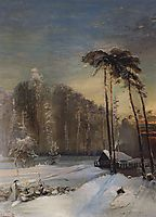 Forest in the frost, c.1890, savrasov