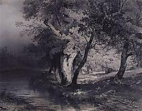 Forest near the lake, illuminated by the sun, 1856, savrasov