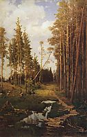 Glade in a pine forest, 1883, savrasov