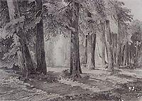 In the park, 1858, savrasov