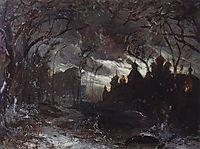 Ipatiev monastery in the winter night, c.1870, savrasov