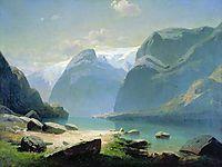 Lake in the Swiss mountains, 1866, savrasov