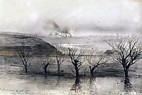 Landscape.The village ofVolyn, 1887, savrasov