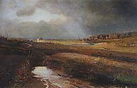 Landscape with Church, 1885, savrasov