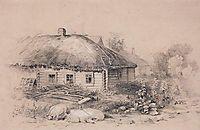 Landscape with hut, c.1860, savrasov