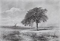 Landscape with a Mill, 1861, savrasov