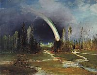 Landscape with a Rainbow, 1881, savrasov