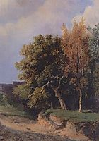 Landscape with road, 1855, savrasov