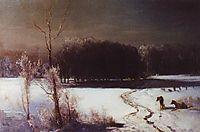 Landscape with wolves, savrasov