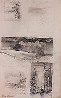Motives of the Russian landscape, c.1870, savrasov