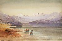 Mountain Lake.Switzerland, 1864, savrasov