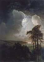 Night on the Sparrow Hills, 1881, savrasov