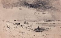 The old churchyard on the banks of the Volga, 1874, savrasov
