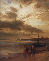 On the Volga, 1875, savrasov
