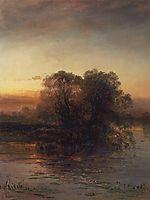 Pond at dusk, 1879, savrasov