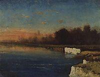 Riverbank of Velunia, c.1870, savrasov
