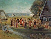 Round dance in the village, 1874, savrasov
