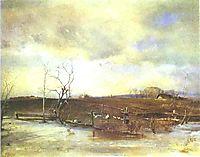 Spring. Kitchen Gardens, 1893, savrasov