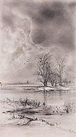Spring landscape, 1890, savrasov
