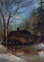 Spring landscape with cottage, 1890, savrasov