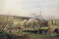 Spring, Village View, 1867, savrasov