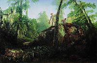 Stone in the forest near the spill, 1850, savrasov