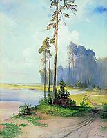 Summer landscape. Pines, c.1880, savrasov