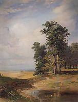 Summer landscape with oaks, 1850, savrasov