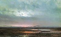 Sundown over a marsh, 1871, savrasov