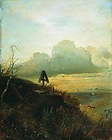 Tomb on the banks of the Volga, 1871, savrasov