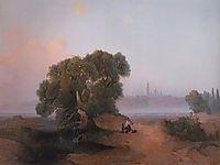View of Pechersk Lavra in Kiev from the Dnieper, 1852, savrasov