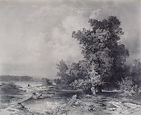 Type in a village near Moscow Kuntsevo, 1855, savrasov