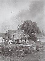 Ukrainian landscape, c.1860, savrasov