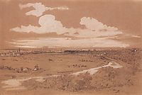 View of Moscow from Sparrow Hills, c.1850, savrasov