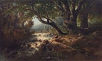 Waterfall, 1868, savrasov