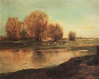 Willow by the pond, 1872, savrasov