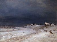Winter Landscape, c.1890, savrasov