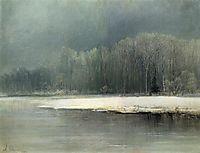 Winter landscape.Rime, c.1870, savrasov