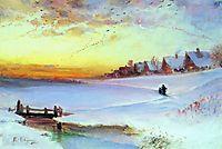 Winter Landscape (Thaw), c.1890, savrasov