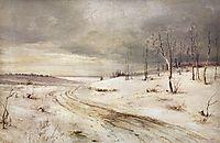 Winter road, c.1870, savrasov