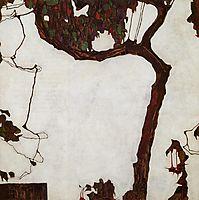 Autumn Tree with Fuchsias, 1909, schiele