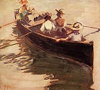 Boating, 1907, schiele