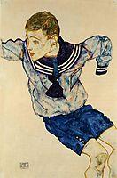 Boy in a Sailor Suit, 1913, schiele