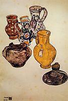 Ceramics, 1918, schiele